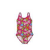 Zoggs Carnival Print Swimsuit - Neon pink