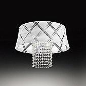 Metal Lux Medusa One Light Pendant - White