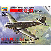 Zvezda - German Transport Plane Junkers JU-52 19.31-45 - Scale 1/200 6139