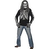 Adult Skeleton Long-Sleeved Top