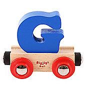 Bigjigs Rail Rail Name Letter G (Dark Blue)