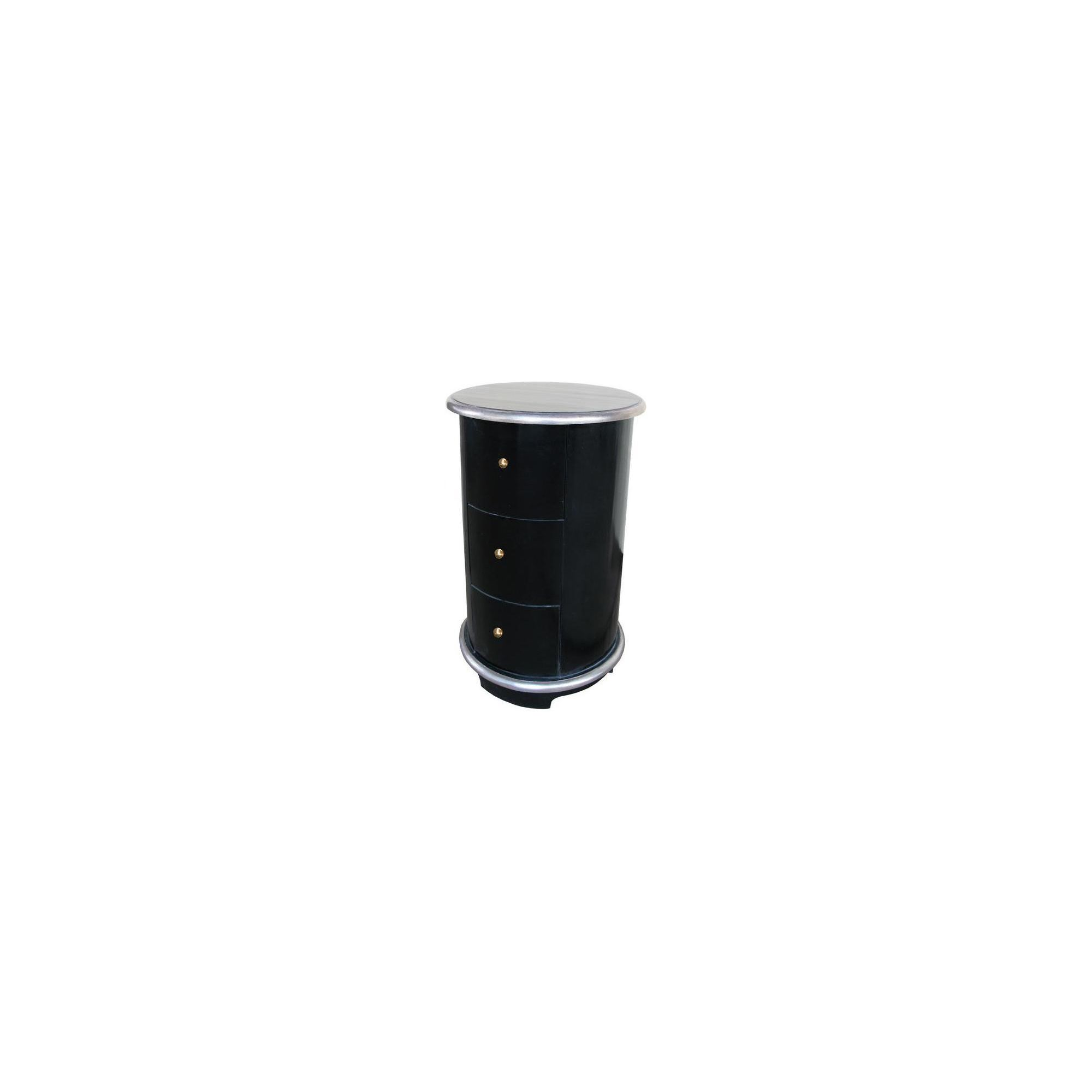 Lock stock and barrel Mahogany Round Bedside Table in Mahogany - Black at Tescos Direct
