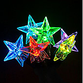 100 Connectable Colour Changing LED Star Lights on Rubber Cable