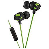 JVC HAFR201/GREEN Xtreme Xplosives Headphones With Remote & Mic - Green