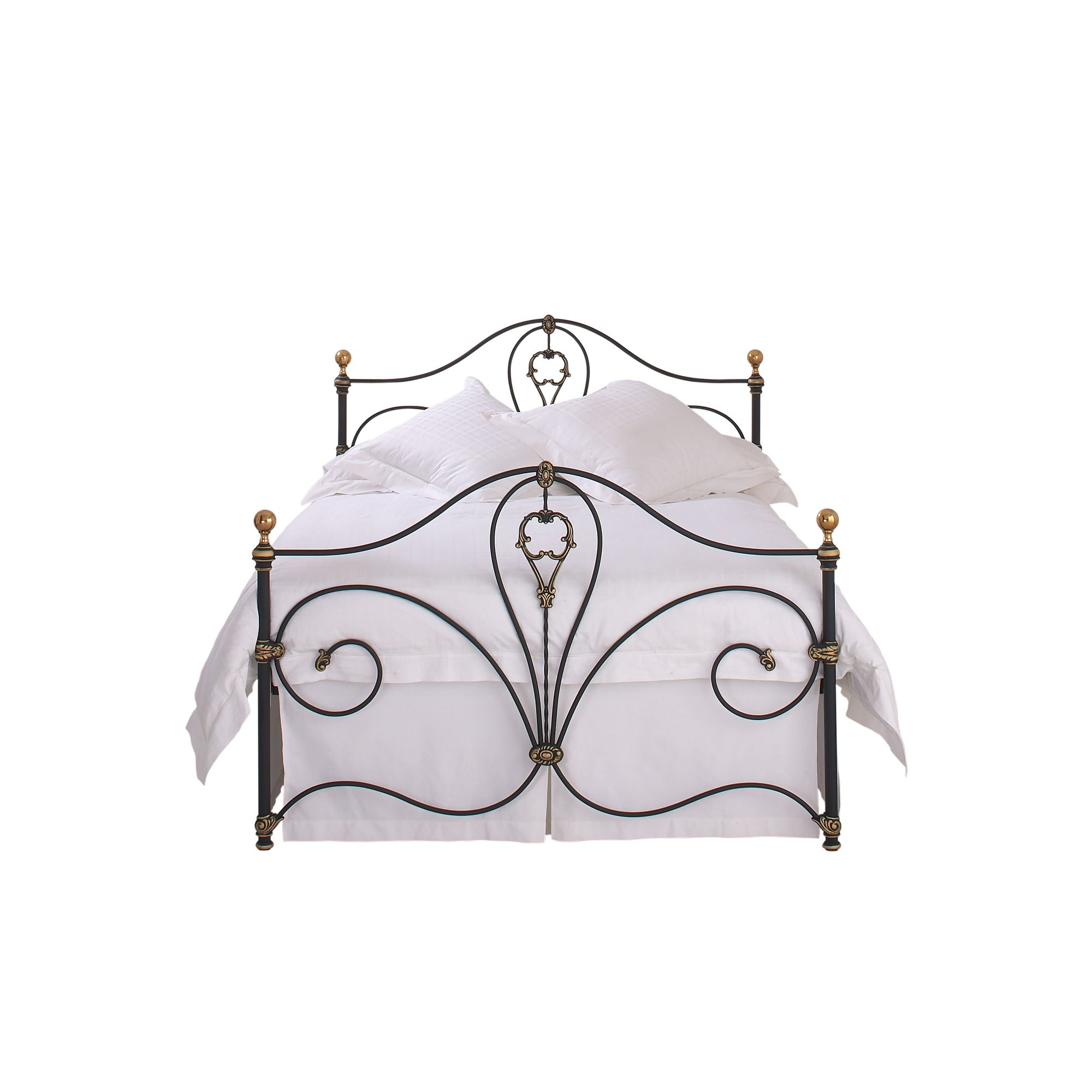 OBC Melrose Bed Frame - Small double - Textured Ivory / Gold Highlights at Tesco Direct