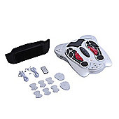 Deluxe Circulation Blood Booster Health Electric Foot Massager-Silver