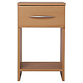 Ashton 1 Drawer Bedside Cabinet Beech