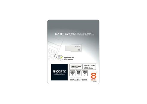 Sony 8GB Micro Vault Tiny Pen Drive White