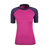 Rash Vest UV Protection Womens Swimming Diving Surfing Top - Purple