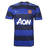 2011-12 Man Utd Away Ladies Football Shirt - Black