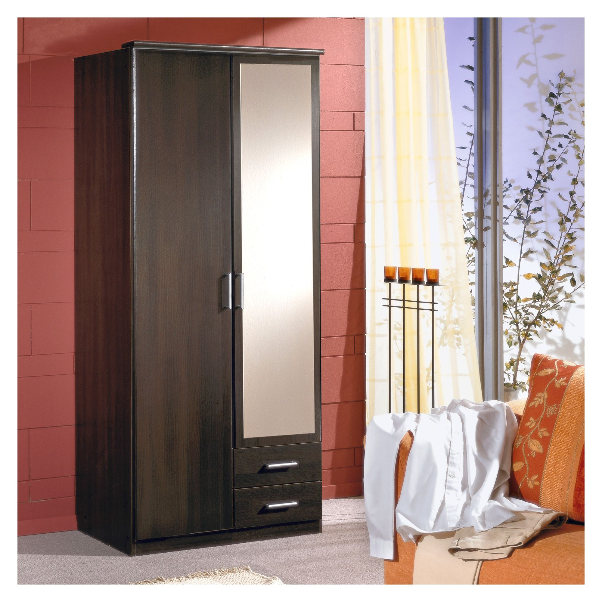 Amos Mann furniture Venice 2 Door 2 Drawer Wardrobe - Wenge at Tesco Direct
