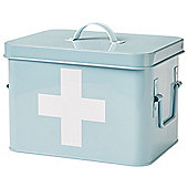 Andrew James Vintage Style First Aid Tin in Light Blue