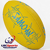 KooGa Samoan Fluro Yellow Training Rugby Ball & Bagged
