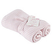 Tesco Knitted Blanket, Pink