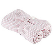 Tesco Knitted Blanket, Pink
