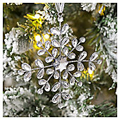 Gem Snowflake Christmas Tree Decoration