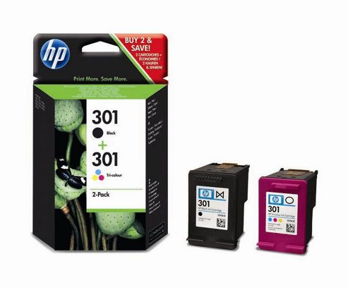 2 Original Ink Cartridges for HP Deskjet 3050S - Black+Tri-Colour (Page Yield: 190 Pages Black / 165 Pages Colour)