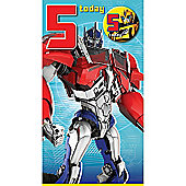 Transformers 5th Birthday Card