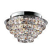 Firstlight Leila 6 Light Flush Ceiling Light in Chrome