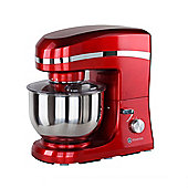 Homegear Electric 1500W Food Stand Mixer+5 Litre Bowl+Lid+ 3 Tools Red
