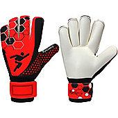 Precision Gk Matrix Electra Rollfinger Junior Goalkeeper Gloves - Red