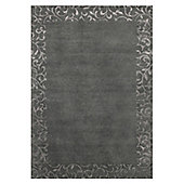 Angelo Sydney Dark Gray Knotted Rug - 300cm x 200cm (9 ft 10 in x 6 ft 6.5 in)