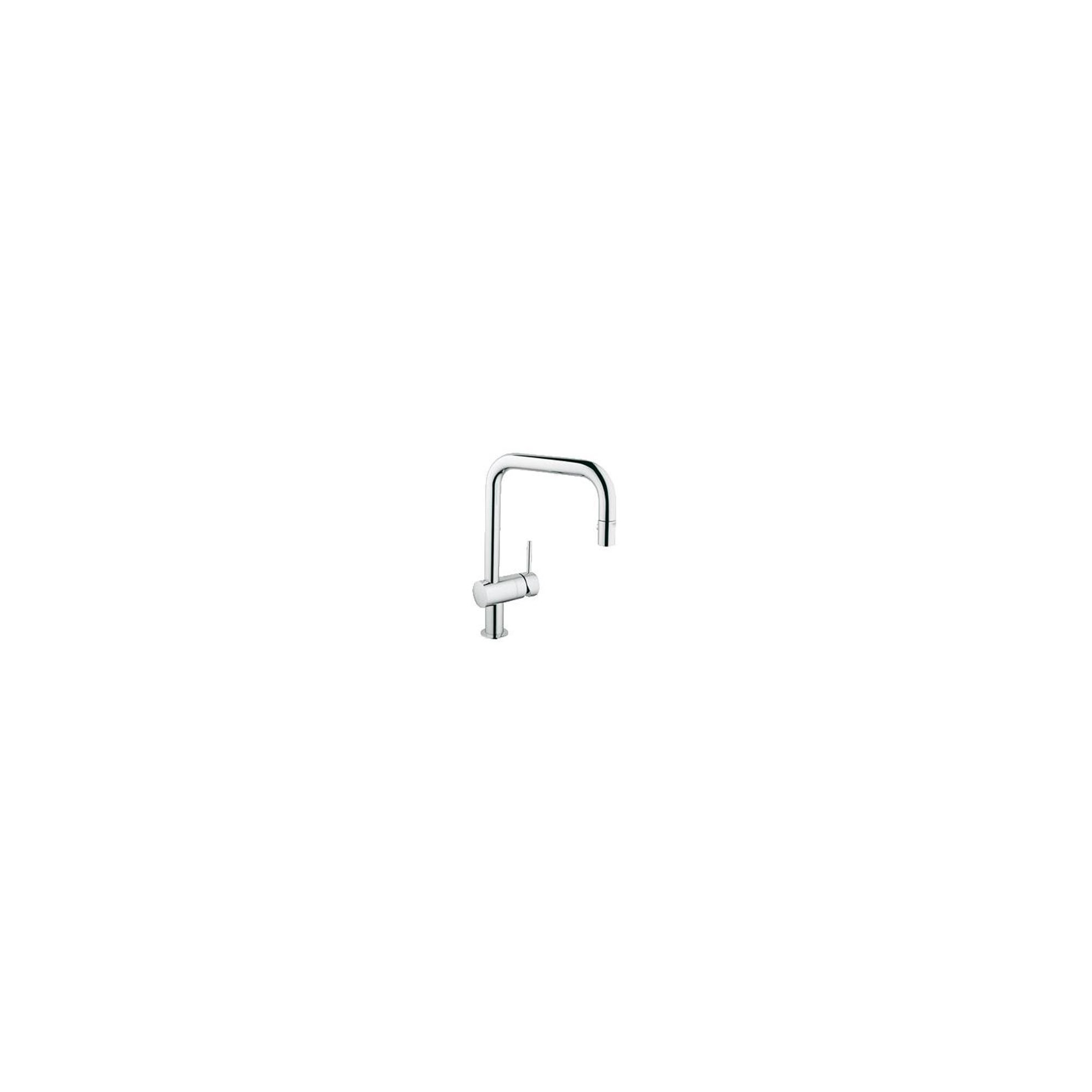 Grohe Minta Mono Sink Mixer Tap, U-Spout, Pull-Out Spray, Single Handle, Chrome at Tesco Direct