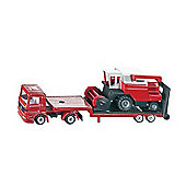 Vehicles - Group 16 - Low Loader With Comb. Harvester 1620 - Siku