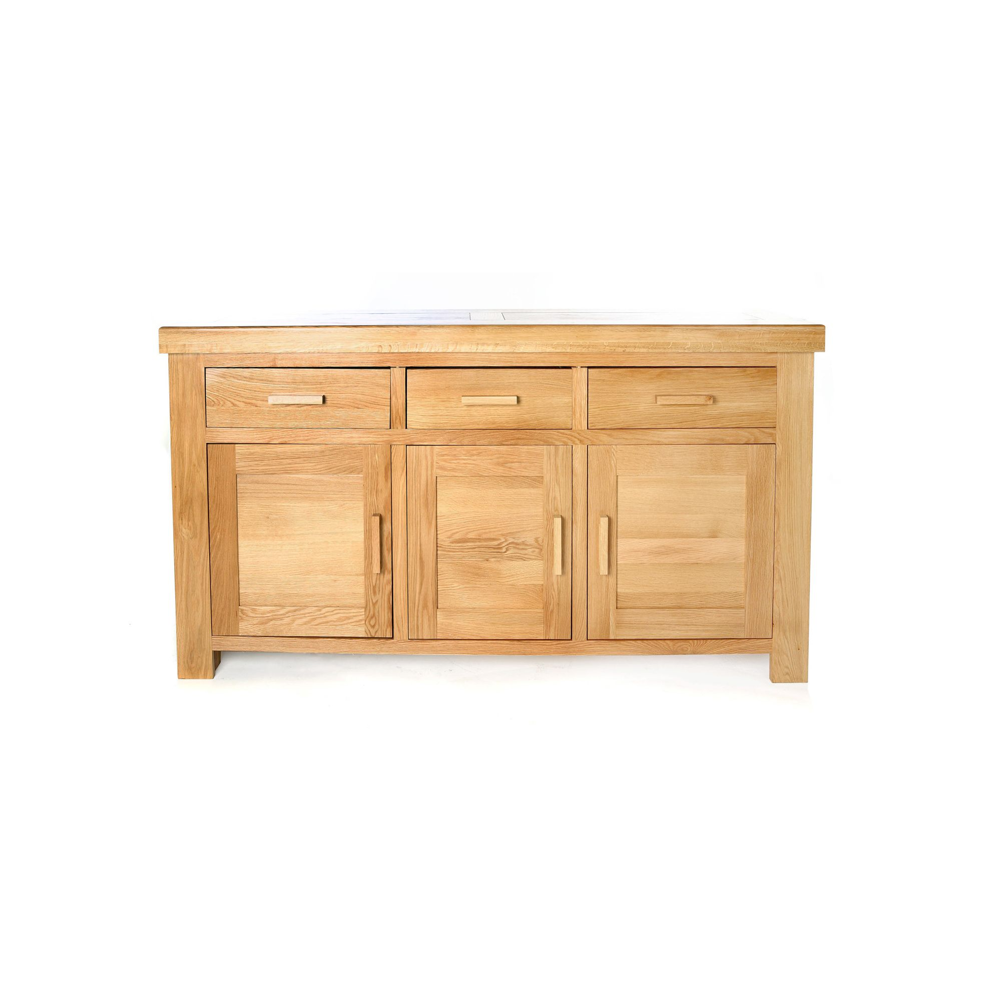Shankar Enterprises Grand Marseille Large Sideboard - Natural Oak at Tesco Direct