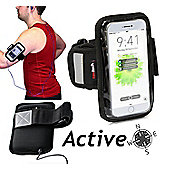Navitech - Black Sports Running Armband For the Apple iPhone 6 iPhone 7 and 6 plus and 7 plus
