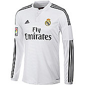 2014-15 Real Madrid Adidas Home Long Sleeve Shirt - White