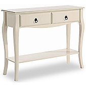 ValuFurniture Marianne 2 Drawer Console Table - Ivory