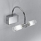 Linea Light Fotis 18cm Two Light Wall Bracket in Chrome