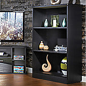 Welcome Furniture Living Room Bookcase - Black Gloss