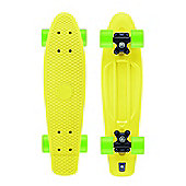 Xootz Kid's Retro Plastic Cruiser Skateboard Yellow 22-Inch