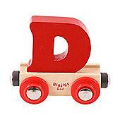 Bigjigs Rail Rail Name Letter D (Dark Red)