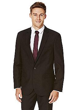 F&F Black Tailored Fit Suit Jacket - Black