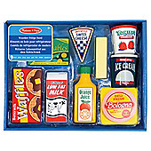 Melissa  Doug Wooden Toy Set Fridge Food