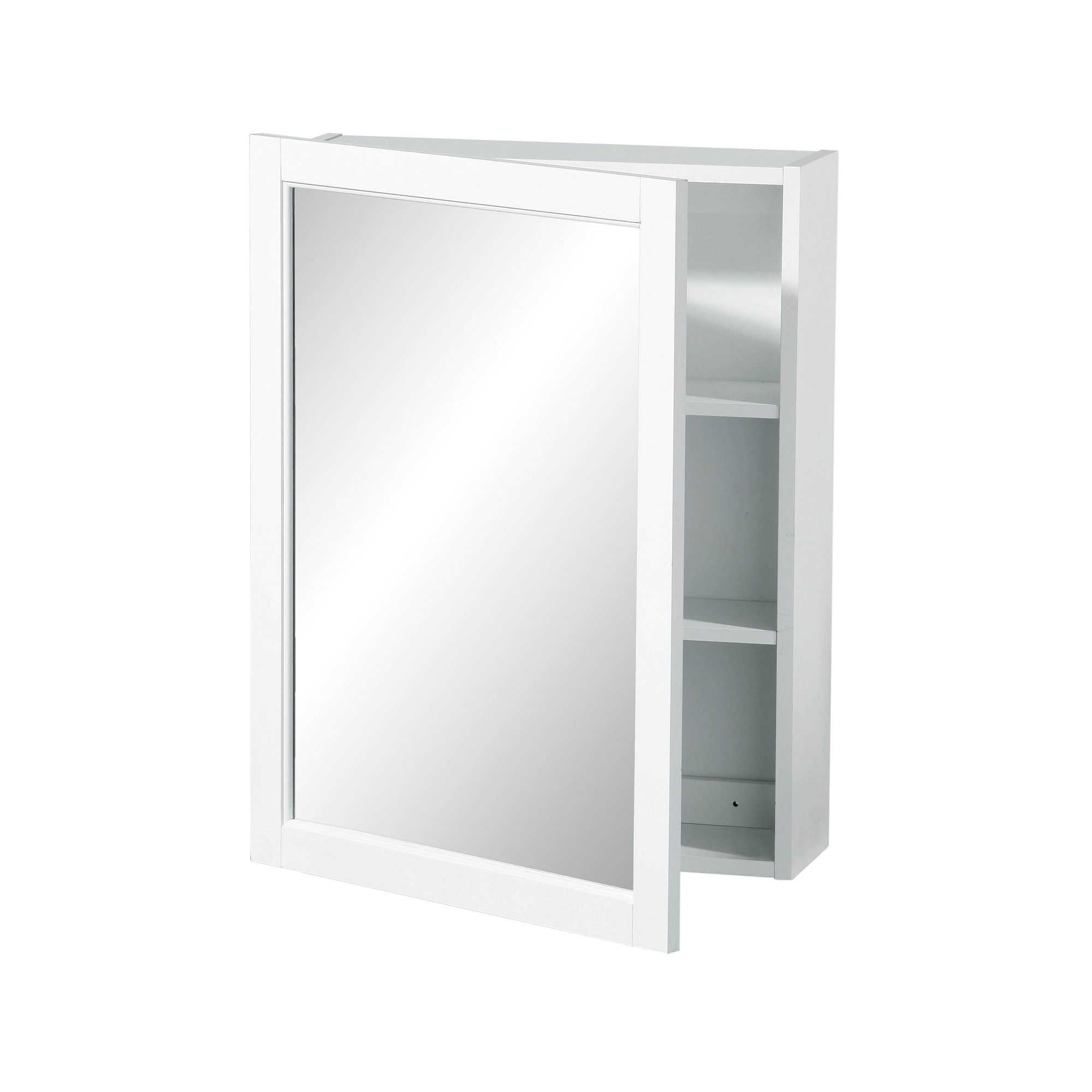 Premier Housewares Mirrored Wall Cabinet with Two Tier Shelves