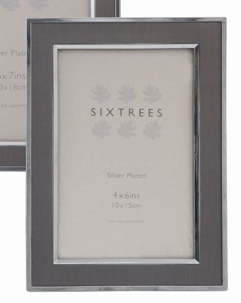 Sixtrees Abbey Inlay Photo Frame - 10 x 15 cm (4 x 6 in) - Pewter