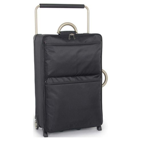 IT Luggage World's Lightest Suitcase, Black Large