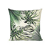 Parlane Square Green Cushion with Mondstera Pattern - 45 x 45cm