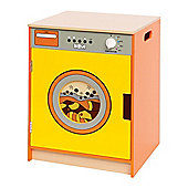 Bigjigs Toys Orange and Yellow Washing Machine
