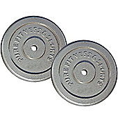 """PureFitness & Sports 1"""" Standard Weight Plates / Discs - 2 x 20kg"""
