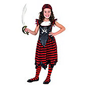 Discontinued - Gothic Pirate Girl - Child Costume 7-9 years