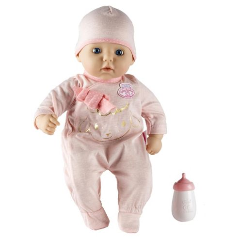 Very own newborn baby with the my first baby annabell doll sta