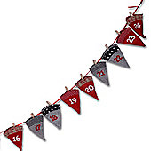 Pegged Cone Shaped Grey & Red Patterned Christmas Advent Calendar