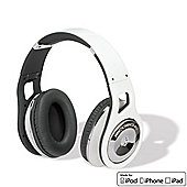 Scosche RH1056M Reference On Ear Headphones (White) with Inline Microphone