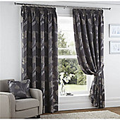 Curtina Sissinghurst Slate 90X54 Lined Curtains
