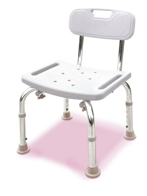 Lifemax Limited Oblong Bathroom Stool with Back Rest
